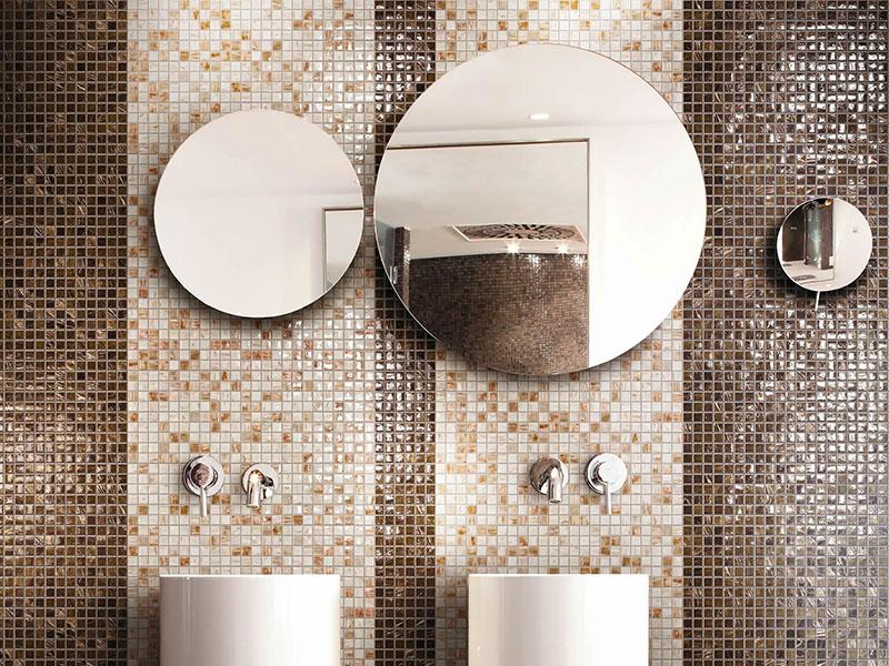 Progetto bagno con mosaico bisazza e piatto doccia filo pavimento